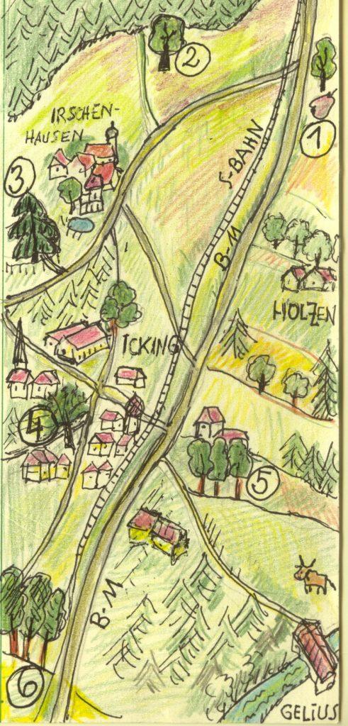 Karte Ickinger Bäume